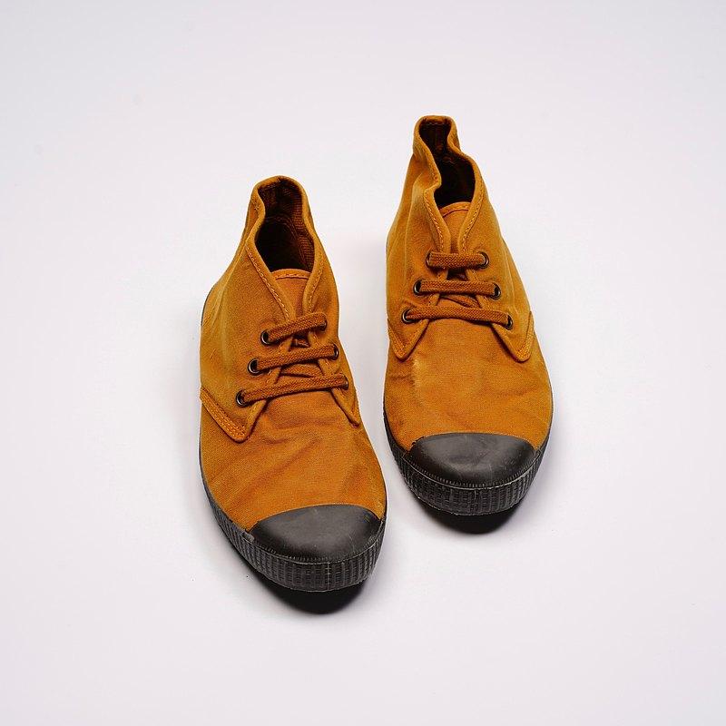 西班牙帆布鞋CIENTA U60777 43土黃色 黑底 洗舊布料 大人 Chukka