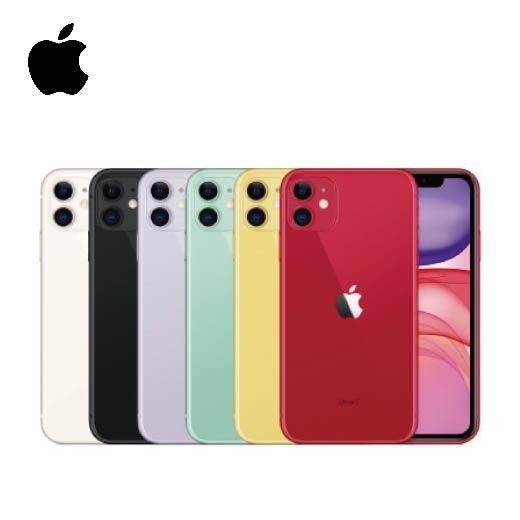 【Apple】iPhone 11 (64G) ※加贈超值6件組(鋼化玻璃保護貼+防摔殼+快速充電線+無線藍芽耳機+無線充電盤+行動電源)  ▍DM