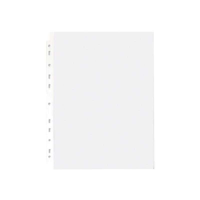 珠友 11孔資料袋50入(方格紋)(適用2 3 4孔夾)(LC-10013)A4/13K