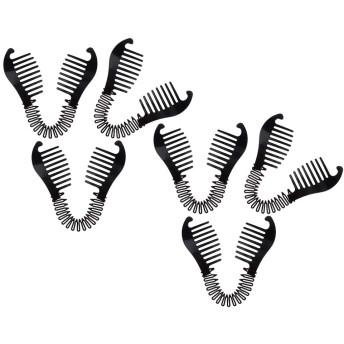 SM SunniMix ヘアクリップ バレッタ バナナヘアクリップ ヘアコーム 太い髪 長い髪 爪櫛グリップ お団子メーカー 6個