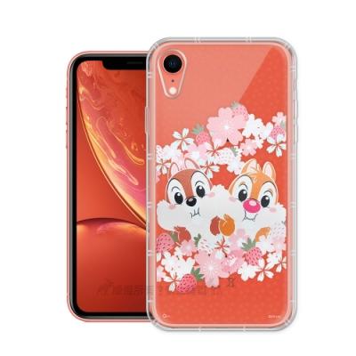 迪士尼授權 櫻花系列 iPhone XR 6.1吋 空壓防護手機殼(奇奇蒂蒂)
