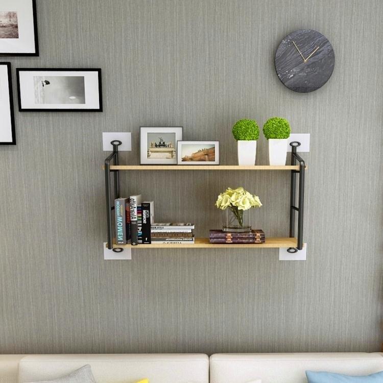 床上書架墻上置物架免打孔臥室壁掛收納架大學生宿舍床上書架下鋪一字隔板