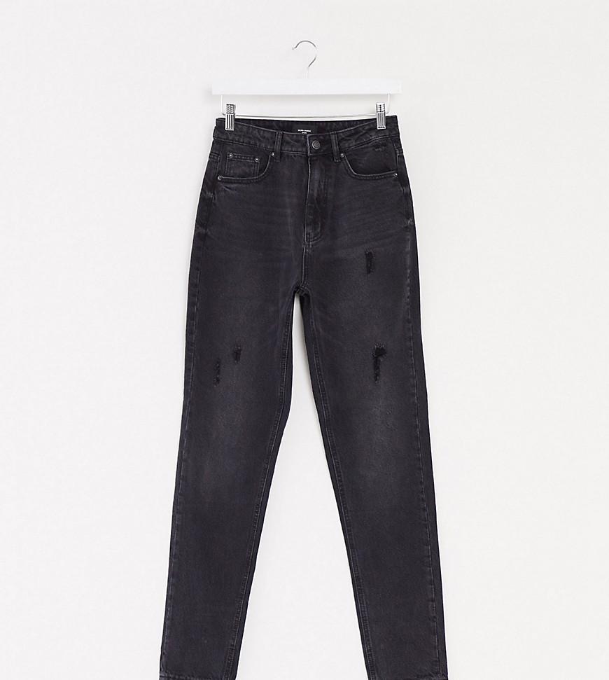 Vero Moda Tall mom jeans with high waist in black