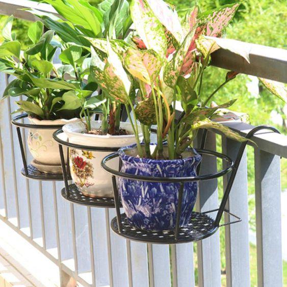3個裝 簡約加大加粗窗臺掛架陽臺欄桿綠蘿花架懸掛花盆架護欄花架子