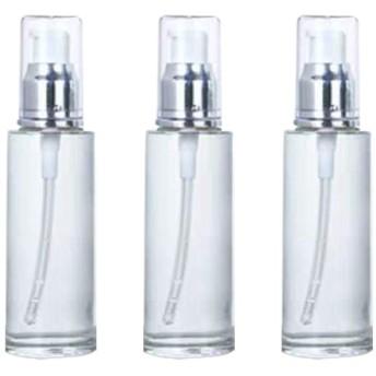 TOPBATHY 3ピース空ポンプスプレーボトル旅行石鹸ボトルプラスチックディスペンサーボトルクリーニング旅行化粧品包装60ミリリットル