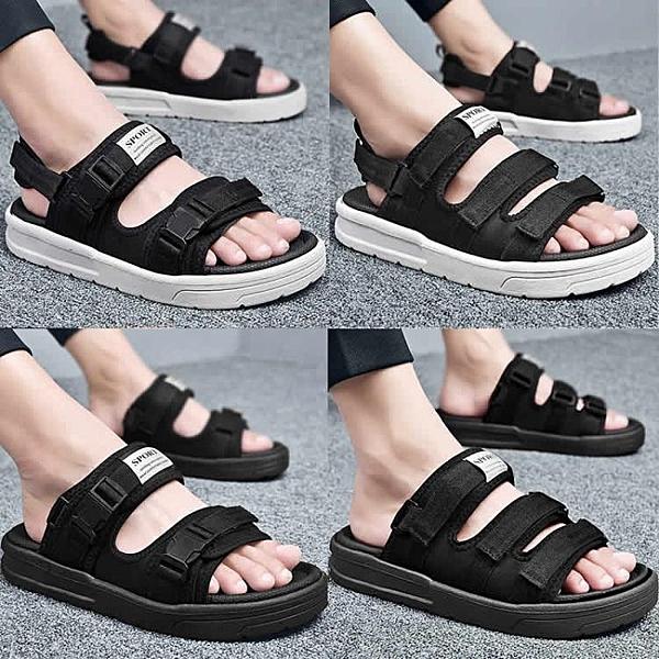 凉鞋-男士涼鞋夏季時尚沙灘鞋兩用情侶外穿2020新款潮流涼拖休閒拖鞋男