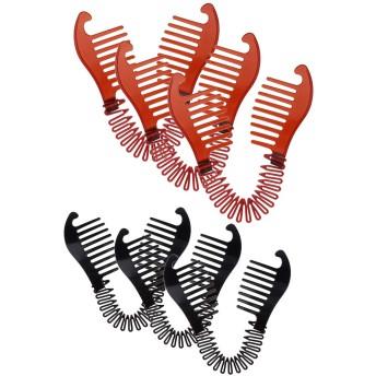 6pcs Updoヘアカットクリップバンドドーナツツイスト編みポニーテールメーカーアクセサリー