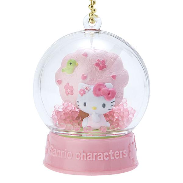 【震撼精品百貨】Hello Kitty 凱蒂貓~三麗鷗 KITTY 雪球造型吊飾/鑰匙圈-粉#19989
