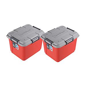 (組)K-62 海力士滑輪整理箱60L(紅) 2入