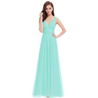 Ever-Pretty レディース イブニングドレス ブライズメイド パーティードレス 演奏会 シフォンロングドレス 大きいサイズ09016