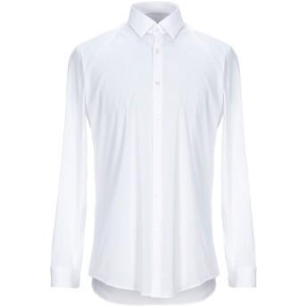《セール開催中》BOSS HUGO BOSS メンズ シャツ ホワイト 44 コットン 75% / ナイロン 20% / ポリウレタン 5%