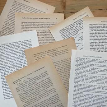 (多種)アンティーク洋書ペーパー 大きめサイズ 20枚セット