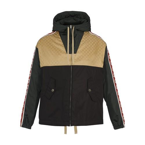 Blouson jacket with logo