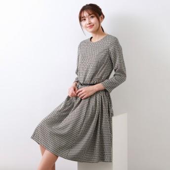 AMACA(アマカ)/ジオメトリックプリントドレス