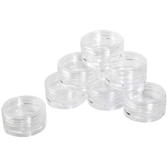 nancylyebr 7本セット 化粧品用 小分け容器 小分けボトル クリームケース 詰め替え容器 化粧品 携帯用 収納 旅行用品 透明 (3グラム) (クリア)