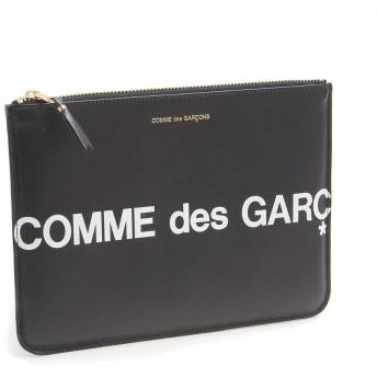 COMME des GARCONS (コムデギャルソン) ポーチ財布 HUGE LOGO SA5100HL ブラック [並行輸入品]