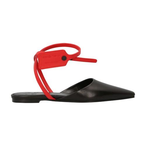 Zip Tie sandals in leather