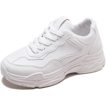 [Ork Tree] 5cm スニーカー レディース 白 シューズ 靴 ホワイト 厚底靴 通勤 通学 厚底スニーカー レディース