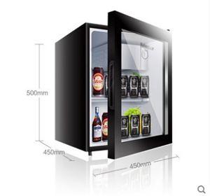 電壓220v幼兒園食品留樣櫃小型迷你冰箱家用辦公室透明飲料冷藏保鮮展示櫃