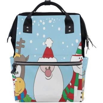 LALATOP クリスマスの文字プリント おむつ バックパック 旅行用 ママおむつバッグ 大容量 多機能 スタイリッシュ 耐久性 看護バッグ Lサイズ マルチカラー