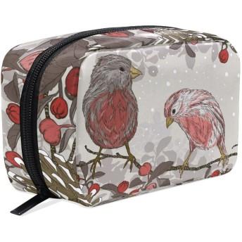 バララ (La Rose) 化粧ポーチ メイク 洗面用具入れ 大容量 軽量 おしゃれ 多機能 かわいい 鳥柄 花柄 和風 コスメポーチ 小物入れ 収納バッグ 女性 雑貨 プレゼント