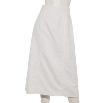MAX57%OFF Doux archives (ドゥアルシーヴ) NyタスランはぎAラインロングスカート OFF WHITE