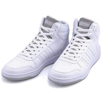 [アディダス] adidas メンズ ハイカット スニーカー アディフープスミッド2.0 EE カジュアル スポーツ ウォーキング ADIHOOPS MID 2.0 F34813 ランニングホワイト/ランニングホワイト/グレーTWO 25.5cm