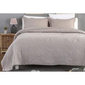綿のベッドカバーダブルキルトキルトリバーシブルのエレガントなファッション花カントリースタイルベッドカバーファッション四季使用高級高品質ベッドカバー,GreyA-240X260cm