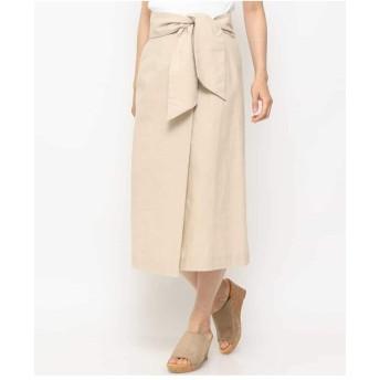 (アーヴェヴェ) a.v.v 太サッシュナロースカート K2HHG27049 XL ベージュ1