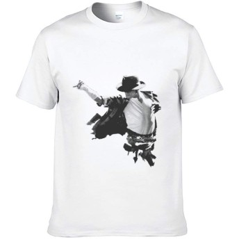 Tシャツ 半袖 メンズ レディース スポーツシャツ マイケル ジャクソン ティーシャツ プリント カットソー インナーシャツ 面白い 丸首 綿 トップス カジュアル 吸汗 速乾 ファッション 快適
