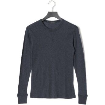 【50%OFF】カシミヤ混 ワッフル 長袖Tシャツ ブラック 46