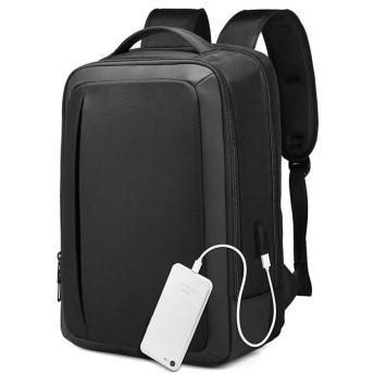 女性男性用ポート防水・カレッジスクールコンピューターバッグを充電USBでノートパソコンのバックパック、ビジネスラップトップバックパックは、15.6インチのラップトップやノートブックに適合します,18nch