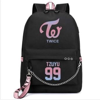 LiLing阿七 応援グッズ ファッション TWICE USB リュックサック ズック 韓国アイドル VIP 周辺 バッグ (5#)