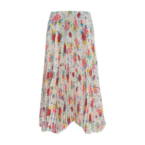 Kick pleated skirt