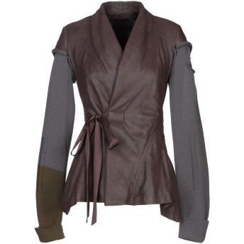 《セール開催中》RICK OWENS レディース テーラードジャケット ディープパープル 38 羊革(ラムスキン) 100% / バージンウール