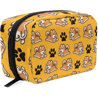 Shiba Inu犬プレゼント 化粧ポーチ メイクポーチ コスメポーチ 化粧品収納 小物入れ 軽い 軽量 旅行も便利 [並行輸入品]