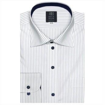 (BRICKHOUSE/ブリックハウス)ワイシャツ 長袖 形態安定 ラクリア ワイド 標準体 メンズ/メンズ ブルー