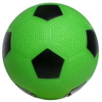 【マイカラーボール】 (6インチ/直径15㎝) カラーサッカーボール (凹凸アリ) (通常色) (1個セット) (黄緑)