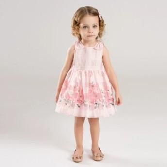 ドレス パーティドレス ワンピース ひざ丈 ノースリーブ ラウンドネック 花柄 Aライン かわいい おしゃれ フェミニン ガーリ