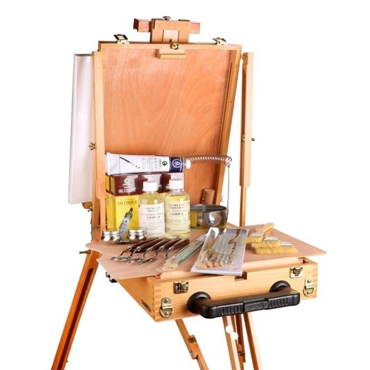 油畫顏料 馬利油畫顏料套裝50/170ML工具套裝藝術家油畫材料畫具油畫筆畫刷媒介