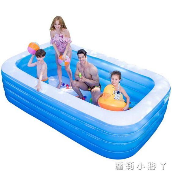 泳池超大號水上樂園嬰兒游泳池家用寶寶兒童充氣加厚成人家庭小孩水池NMS