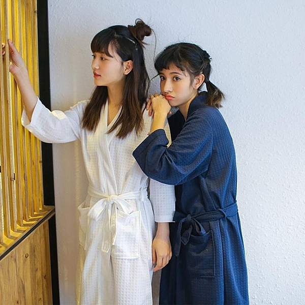 浴袍 夏季薄款浴袍情侶一對睡袍男士長款吸水速干浴衣春秋睡衣女家居服 美物 交換禮物