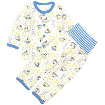 パジャマ 長袖 子供 ベビー 男の子 上下 腹巻付 キルト 寝巻き 80cm 90cm 95cm 雪だるまBL-211220 95cm