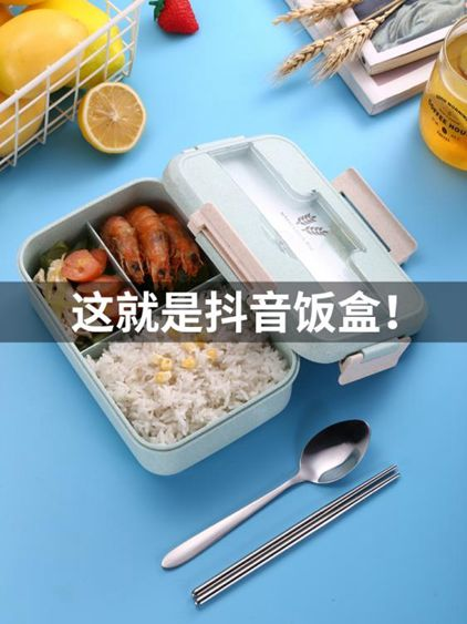 帶飯飯盒分隔型上班族學生微波爐加熱專用便當盒分格日式餐盒套裝