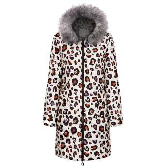 女性の冬のプリントロングダウンコットンレディースフード付きコートQuiステッチジャケットれダウンジャケット 軽量 ショート 暖かい 軽量 フード付き 冬防寒 スリム 大きいサイズ 春秋冬