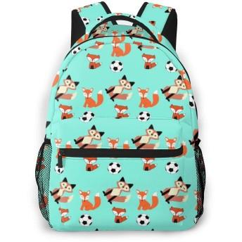 リュックサック サッカーとフォックス 大容量 軽量 多機能 通勤 通学 男女兼用 おしゃれ バックパック