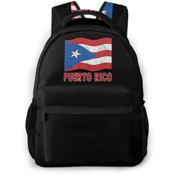 プエルトリコの国旗 学校/スポーツバックパック、カジュアルなユニセックススタイルの大学の学校のバッグ/ラップトップバッグ男性用女性。