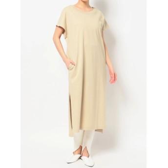 (COTORICA./コトリカ)DOUBLE COLLAR FREANCH SLEEVE T DRESS/レディース ベージュ