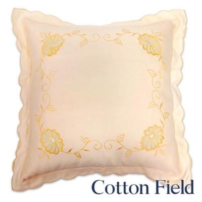 棉花田Cotton Field 桔藤 刺繡抱枕 二件組