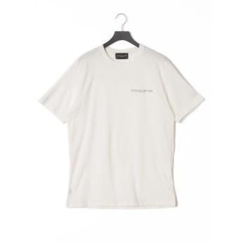 【57%OFF】BASIC プリント クルーネック 半袖Tシャツ オフホワイト m